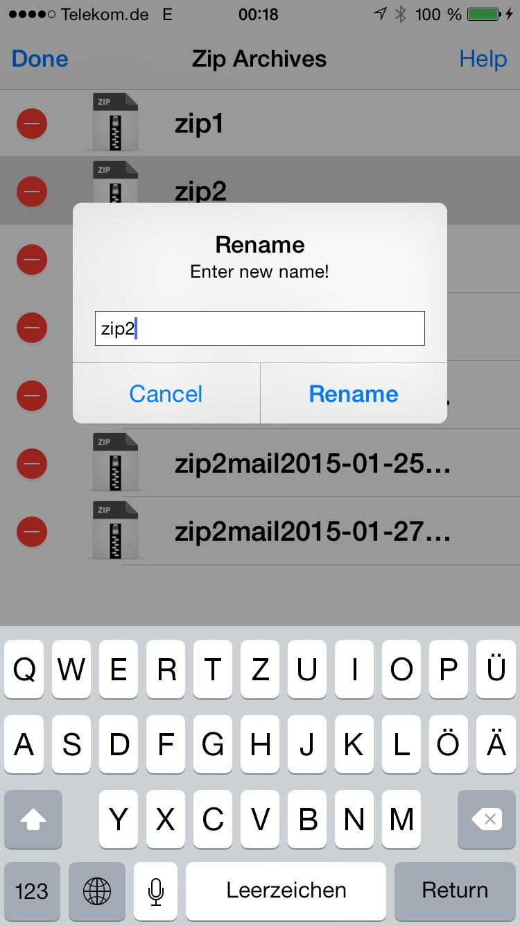 zip viewer rename